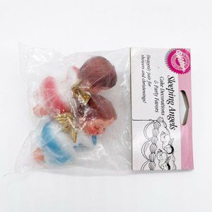 Wilton VTG 1998 Cake Decorations Cake Decorating Party Favor Sleeping Angel FLAW